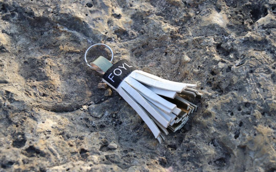 Porte-clé blanc
