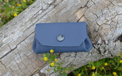 Porte monnaie bleu